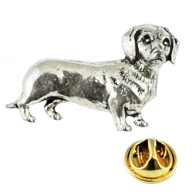 Dachshund Dog Pewter Lapel Pin Badge