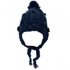 Dark Blue Peruvian Bobble Hat