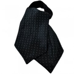 Dark Grey & Silver Oval Patterned Casual Day Cravat