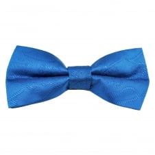Dark Royal Blue Paisley Patterned Boys Bow Tie