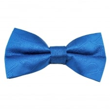 Dark Royal Blue Paisley Patterned Men's Bow Tie