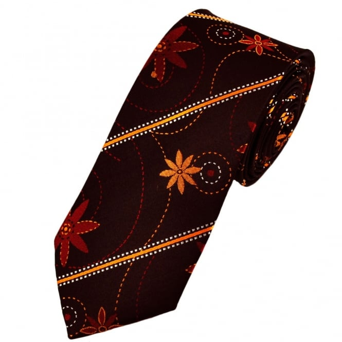 Ties & Bowties Deep Claret Patterned Designer Tie Limited Edition By Ashley Victoria