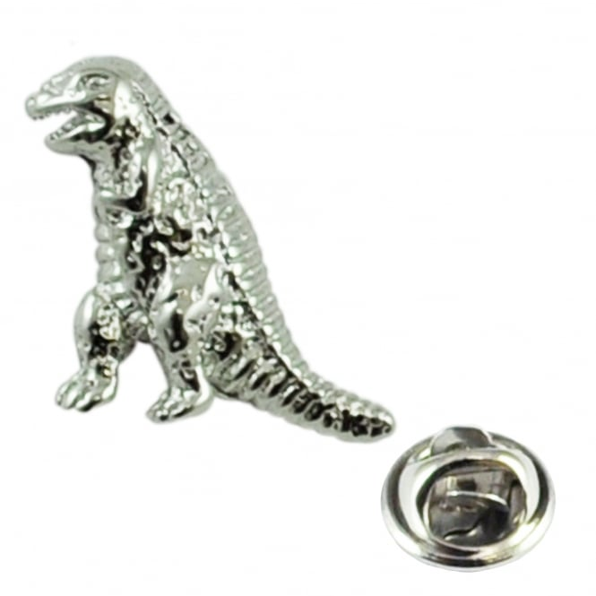 dinosaur t rex fossil lapel pin badge
