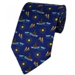Diving Royal Blue Silk Novelty Tie