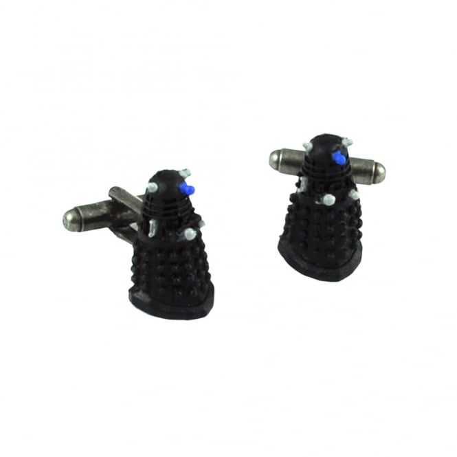 Doctor Who 3D Dalek Black Rubber Novelty Cufflinks