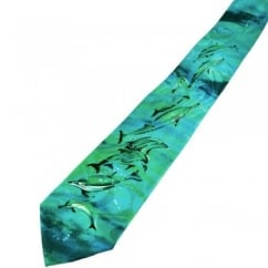 Dolphins Novelty Tie