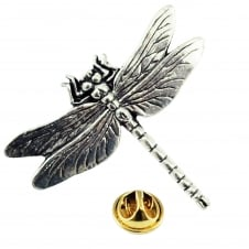 Dragonfly English Pewter Lapel Pin Badge
