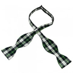 Dress Gordon Tartan Patterned Self Tie Bow Tie