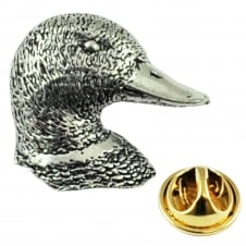 Duck Head English Pewter Lapel Pin Badge