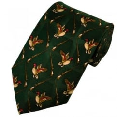 Duck Hunting Novelty Silk Tie