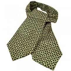 Ecru with Green & Blue Paisley Pattern Casual Cravat