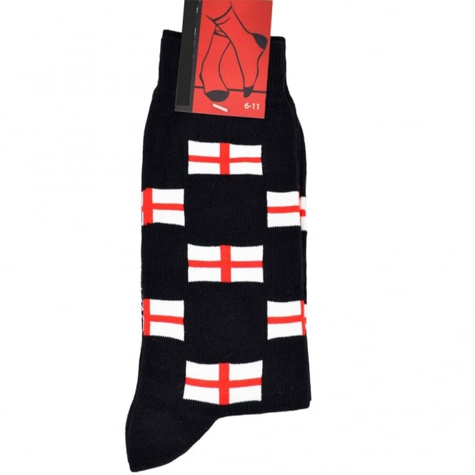England Flags Men's Novelty Socks