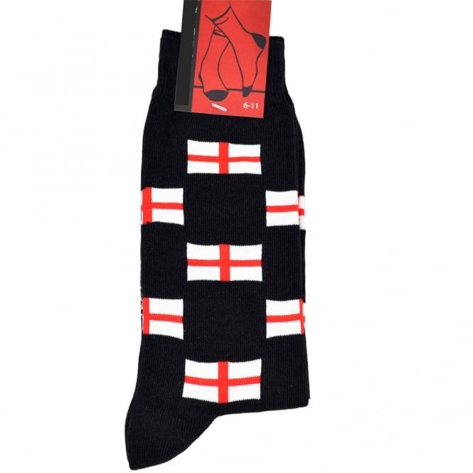 England Flags Men's Novelty Socks