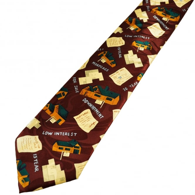 Estate Agent Themed Novelty Tie