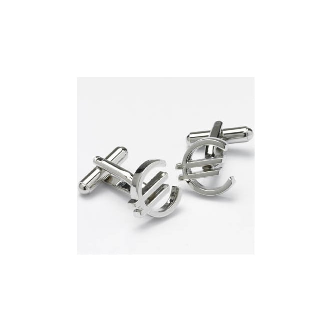 euro sign novelty cufflinks