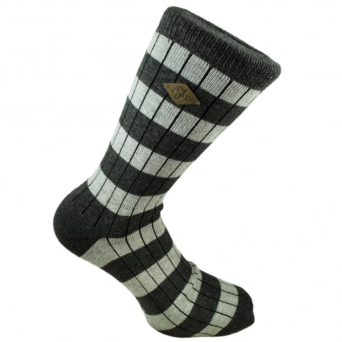 Farah Dark Grey & Light Grey Striped Men's Socks