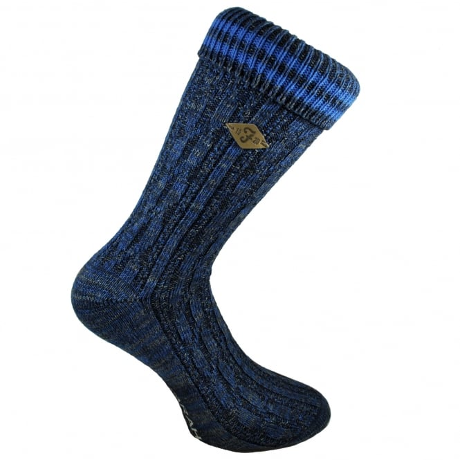 Farah Navy, Grey & Royal Blue Striped Men's Socks
