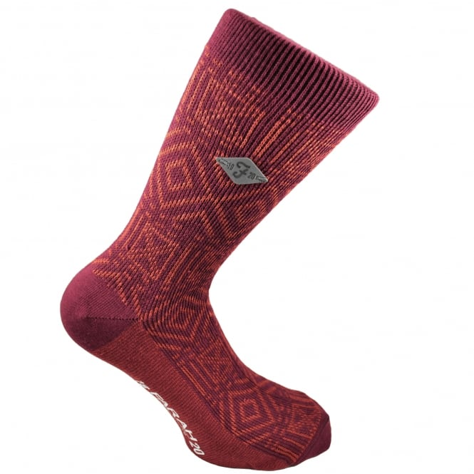 Farah Red & Orange Patterned Men's Socks