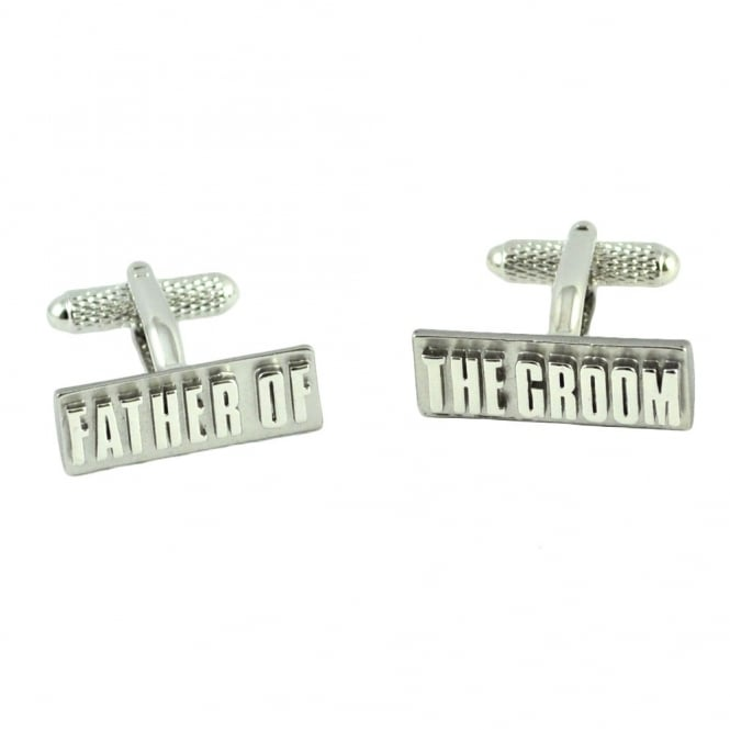 Father of the Groom Rectangle Wedding Cufflinks