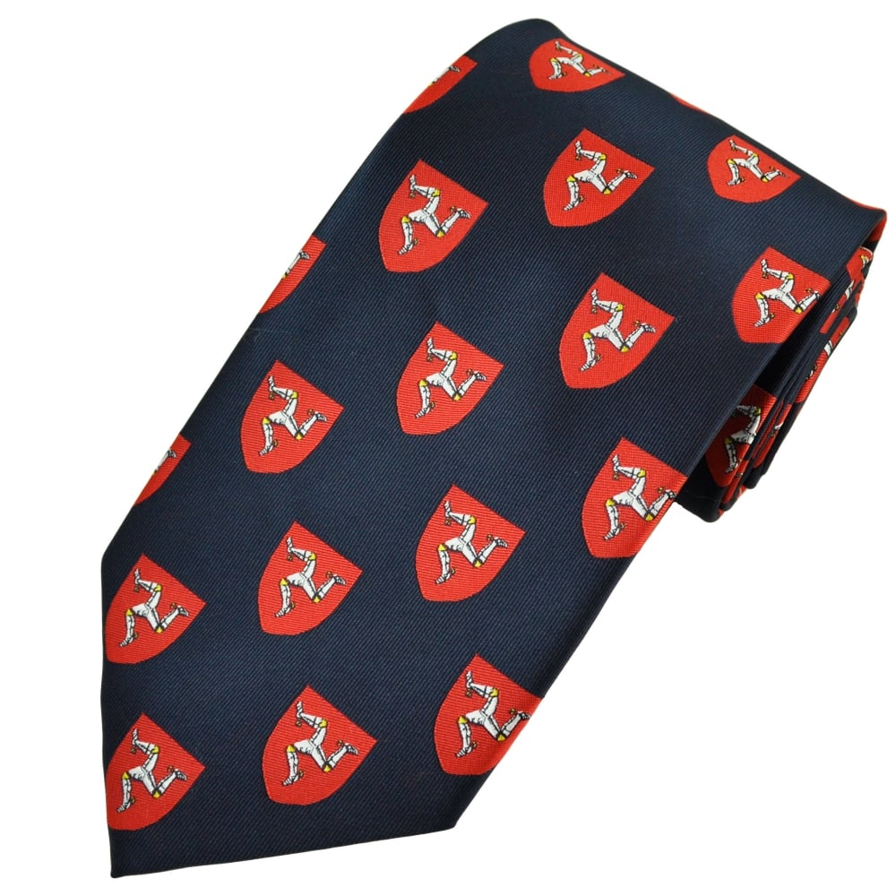 380239174291 Flag of Mann, Isle of Man Three Legs Men's Novelty Tie from Ties Planet UK