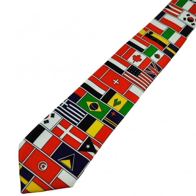 Flags of the World Novelty Tie