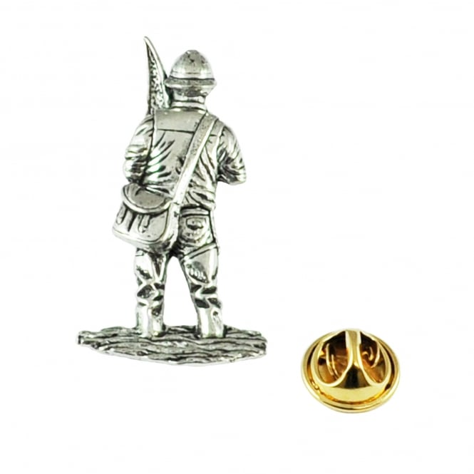 Fly Fisherman Pewter Lapel Pin Badge