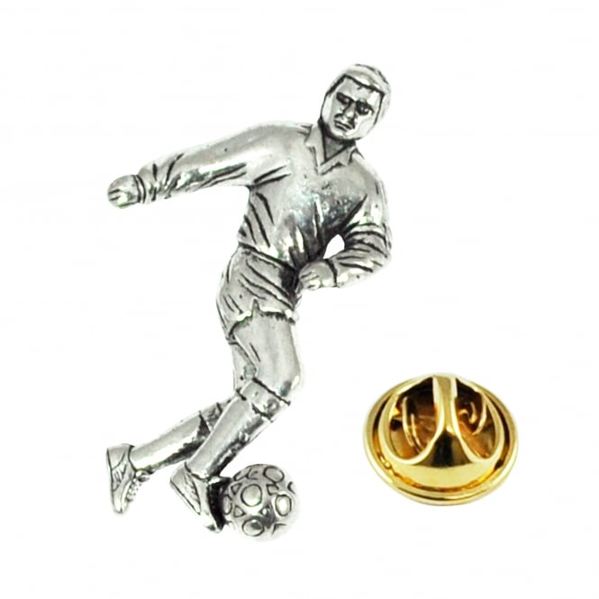Football Player Pewter Lapel Pin Badge