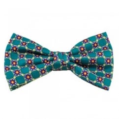 Forest Green, Yellow, Blue & Red Patterned Men's Bow Tie