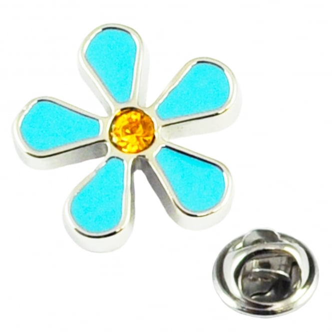 Forget Me Not Flower Design Lapel Pin Badge