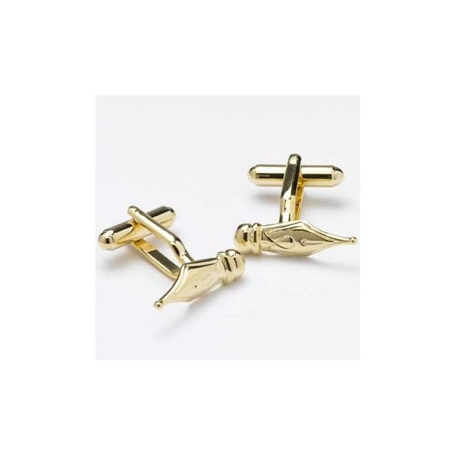fountain pen nib novelty cufflinks  gold