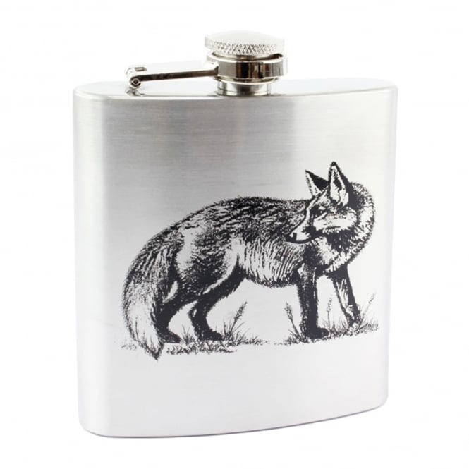 Fox 6oz Stainless Steel Hip Flask
