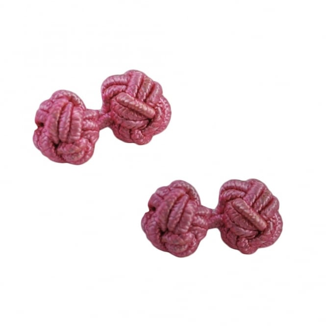 fuchsia pink elastic knot cufflinks