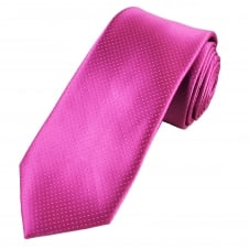 Fuchsia Pink & Silver Micro Patterned Men's Tie