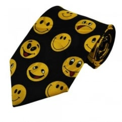 Funny Smiley Faces Novelty Tie