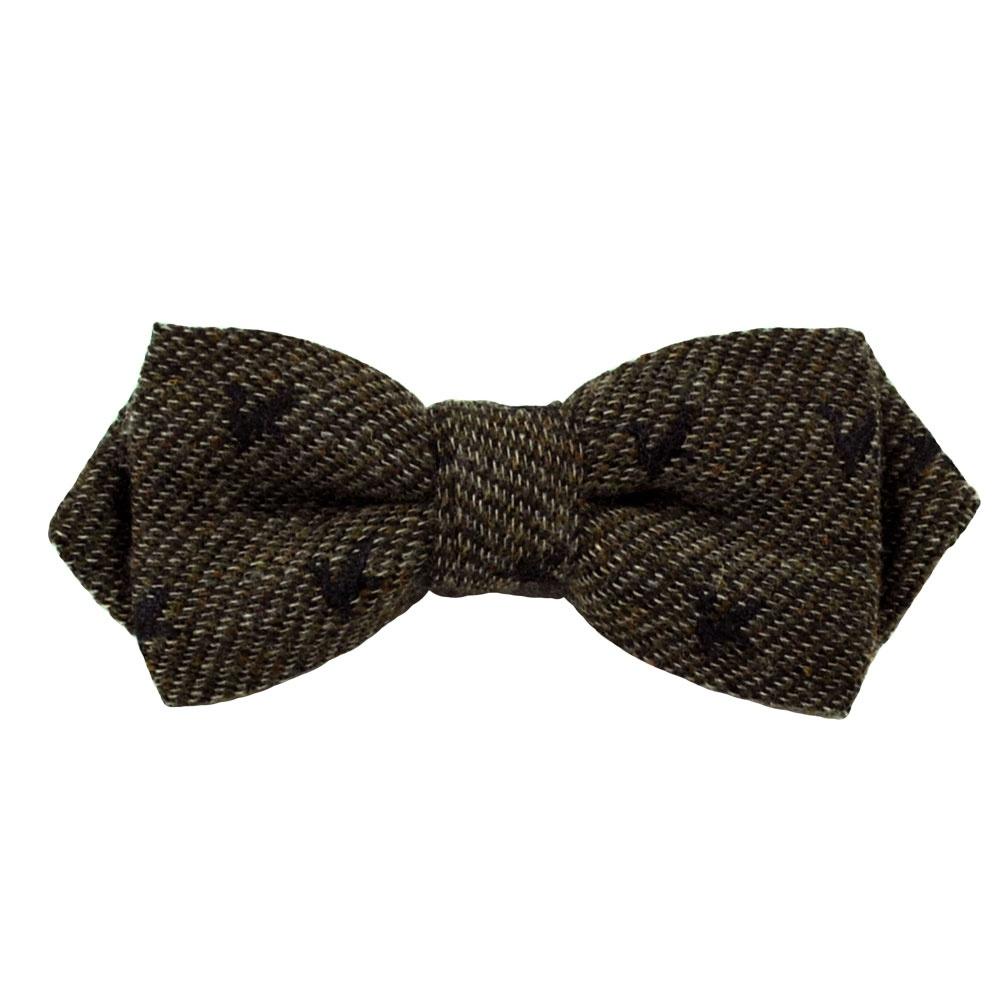 gagliardi brown twill birds designer bow tie from ties