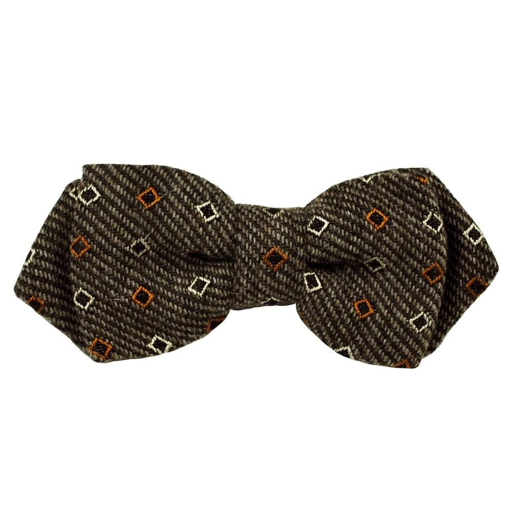 gagliardi brown twill patterned designer bow tie