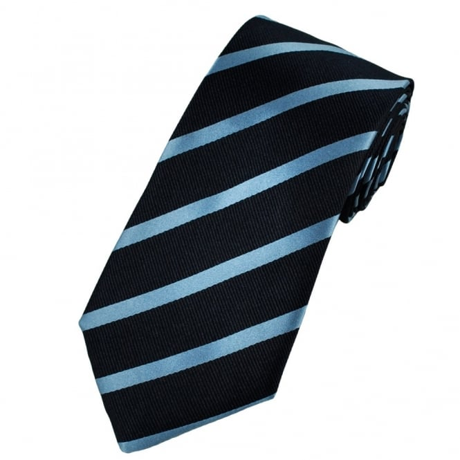 Gagliardi Navy & Blue Striped Silk Designer Tie
