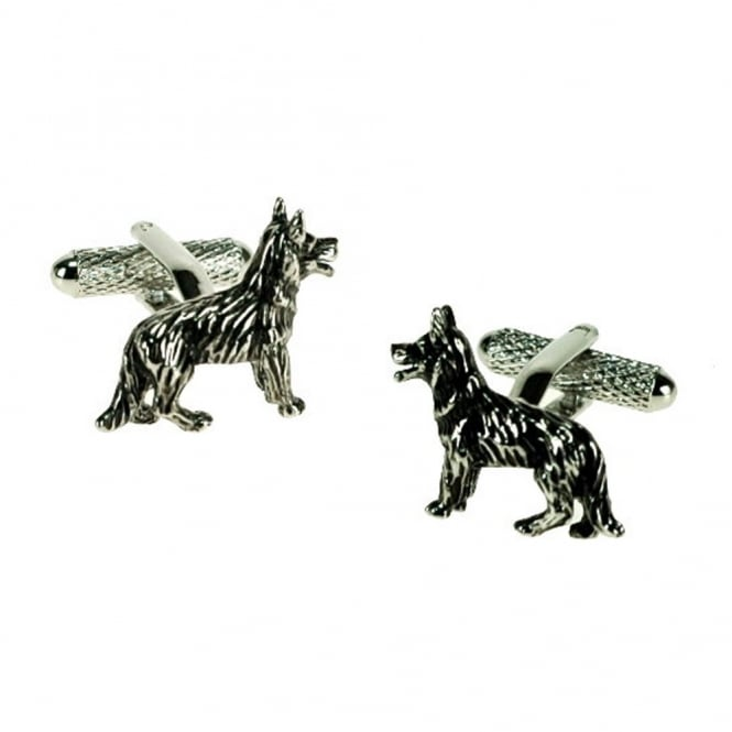German Shepherd Alsatian Dog Novelty Cufflinks