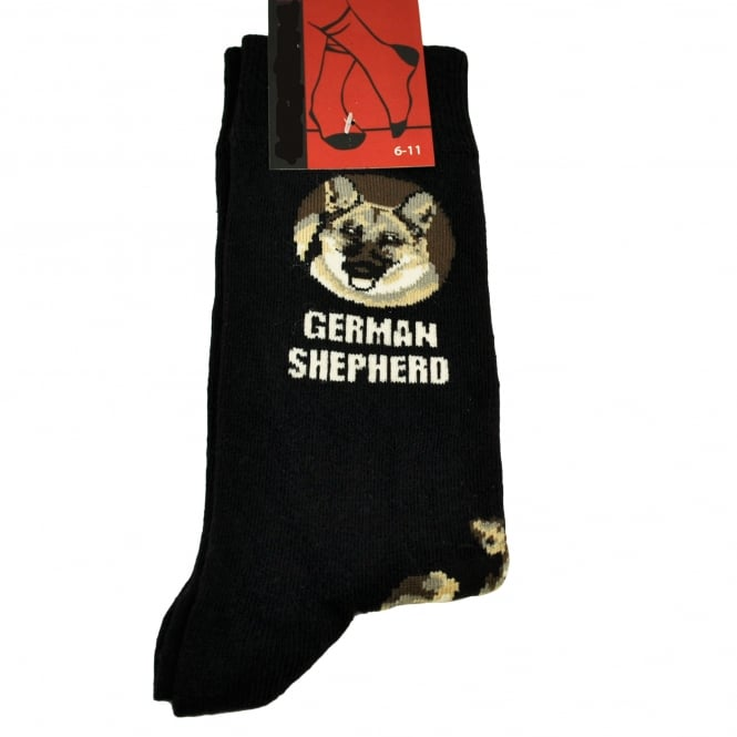 German Shepherd Dog Black Men's Novelty Socks