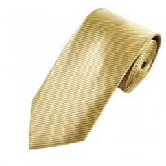 Gold Beige & Brown Striped Men's Tie