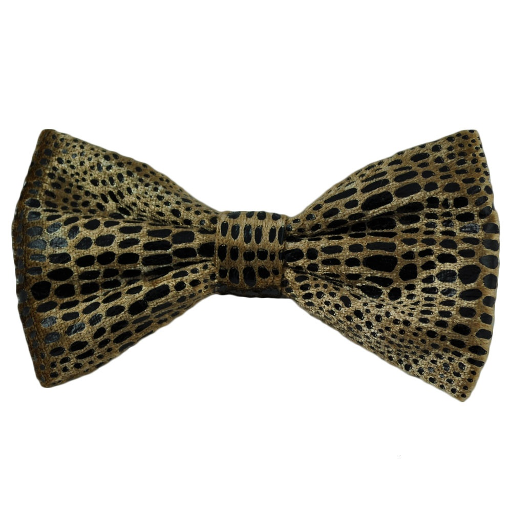 gold black snakeskin look bow tie from ties planet uk