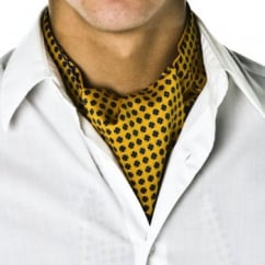 Gold Floral Design Casual Cravat