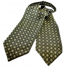 Gold, Navy, Yellow & Silver Patterned Casual Day Cravat