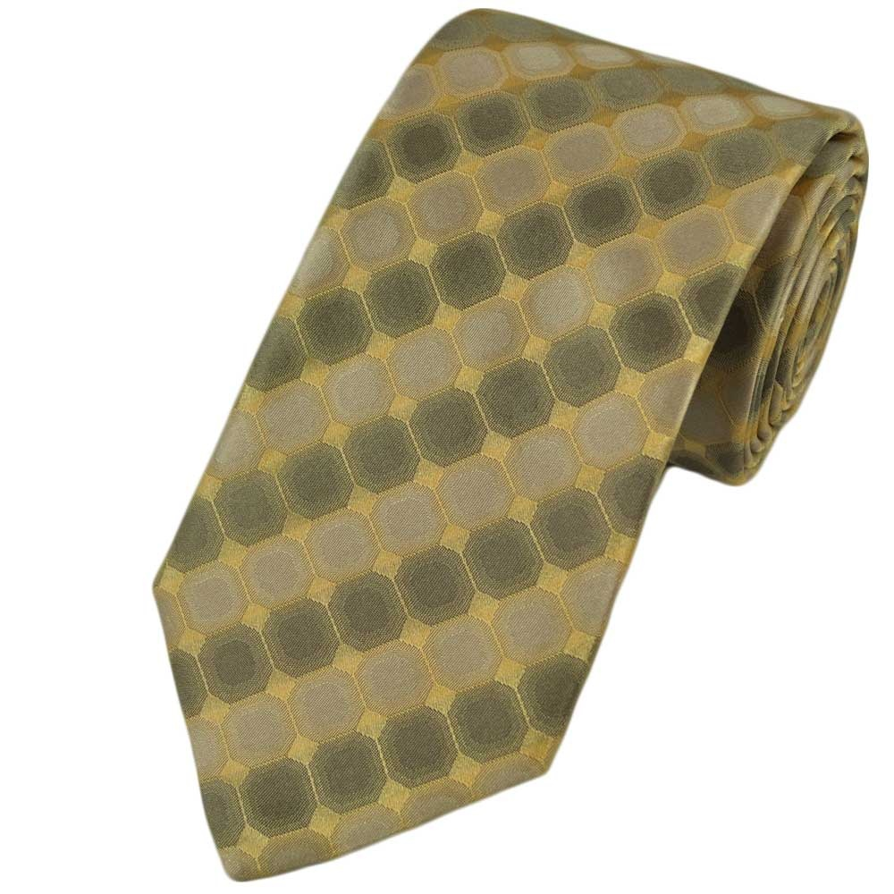 gold patterned silk tie from ties planet uk