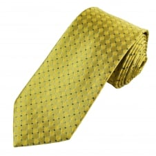 Gold, Silver & Navy Blue Patterned Men's Tie