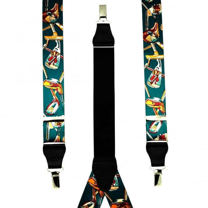 Golf Clubs Green Men's Trouser Braces