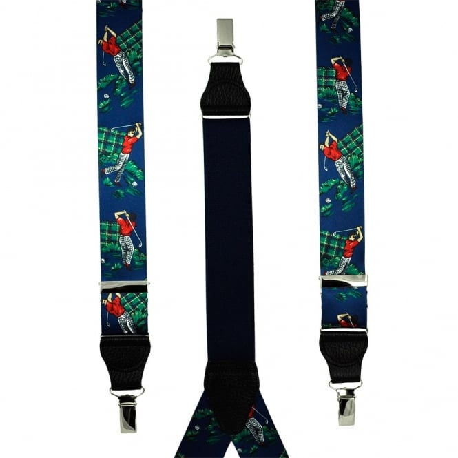 Golf Dark Blue Men's Trouser Braces