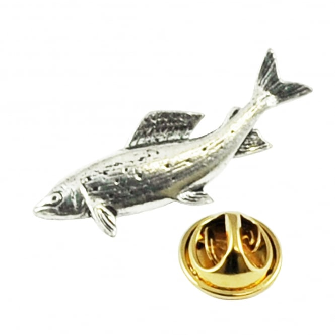 Grayling Fish English Pewter Lapel Pin Badge