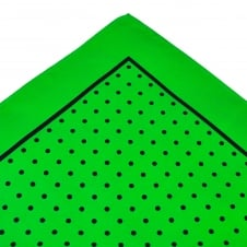 Green & Black Polka Dot Silk Pocket Square Handkerchief