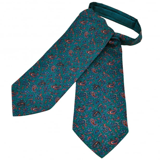 Green, Blue & Red Paisley Casual Day Cravat
